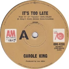 Carole King - It's Too Late