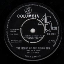 The Animals - The House Of The Rising Sun - 45 giri - Columbia