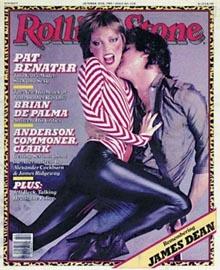 Pat Benatar e Neil Giraldo sulla copertina di Rolling Stone