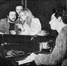 Lucio Dalla con Patty Pravo e Luigi Tenco