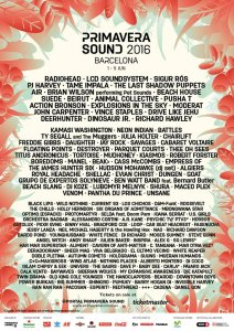 Annunciata lineup del Primavera Sound Festival 2016