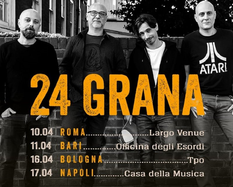 24 Grana, ufficializzate le prime date del tour