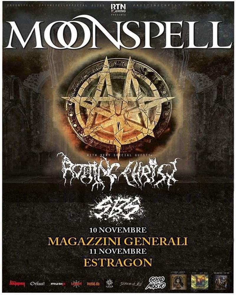 I Moonspell e i Rotting Christ tornano in Italia per due concerti