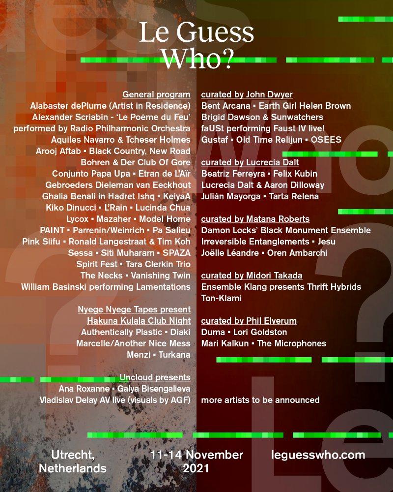 Le Guess Who? Festival: nuovi annunci per la line up dell'edizione 2021