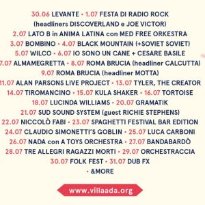 Wilco, Black Mountain, Kula Shaker e Daughter fra i protagonisti dell'edizione 2016 di Roma Incontra il Mondo