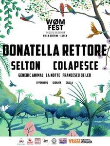 Colapesce, Selton e Donatella Rettore headliner al Wom Fest di Lucca dal 24 al 26 maggio