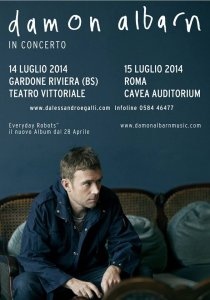 Damon Albarn in Italia a luglio