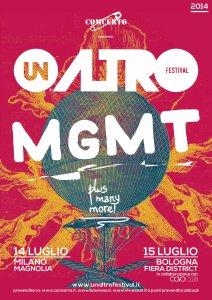 Unaltrofestival 2014: annunciati MGMT come primi headliner